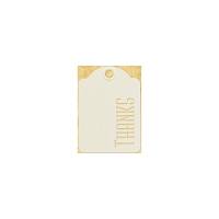 Graphic 45 - Staples - ATC Die-Cut Cardstock Tags - Ivory Thanks - 10/Pkg