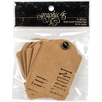 Graphic 45 - Staples - ATC Die-Cut Cardstock Tags - Kraft To & From - 10/Pkg
