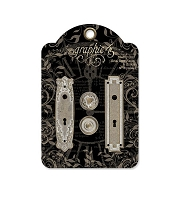 Graphic 45 - Staples - Metal Door Plates & Knobs Shabby Chic