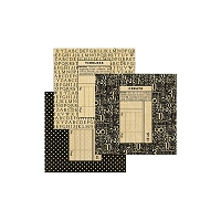 Graphic 45 - Staples - Square Policy Envelopes Black (5.25