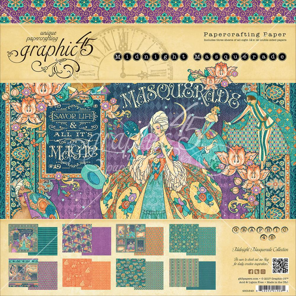 Scrapbook paper collections - Midnight Masquerade Collection