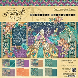 Graphic 45 - Midnight Masquerade Collection - 12x12 Paper Pad