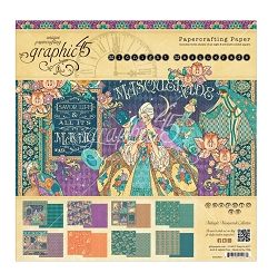 Graphic 45 - Midnight Masquerade Collection - 8x8 Paper Pad