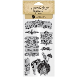 Graphic 45 - Midnight Masquerade Collection - Cling Stamps 1