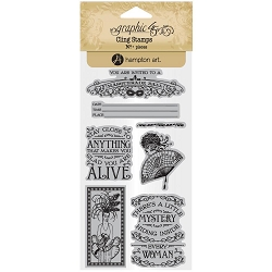 Graphic 45 - Midnight Masquerade Collection - Cling Stamps 2