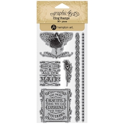 Graphic 45 - Midnight Masquerade Collection - Cling Stamps 3