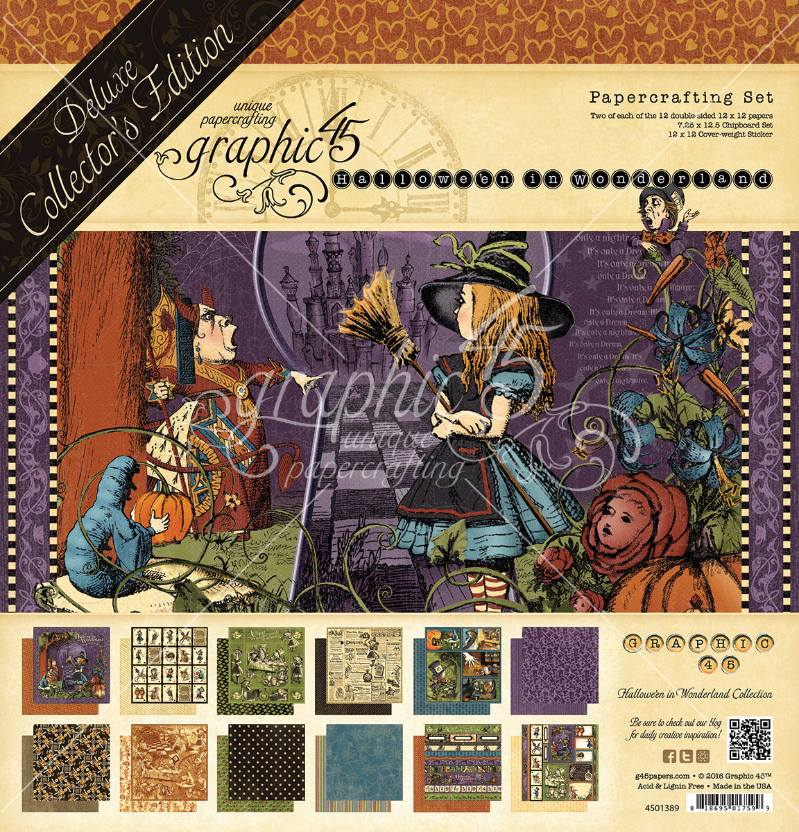 Graphic 45 - Hallowe'en In Wonderland (Collector's Edition + reissued papers)