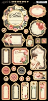 Graphic 45 - Mon Amour Collection - Journaling Chipboard