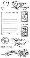 Graphic 45 - Mon Amour Collection - Cling Stamps 2