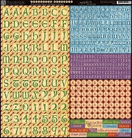 Graphic 45 - Nutcracker Sweet - 12X12 Alphabet Stickers