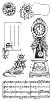 Hampaton Arts - Graphic 45 - Cling Stamp Set - Nutcracker Sweet #3