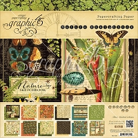 Graphic 45 - Nature Sketchbook Collection - 12x12 Paper Pad