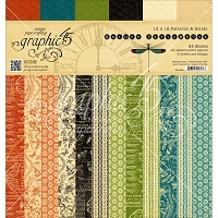 Graphic 45 - Nature Sketchbook Collection - 12x12 Patterns & Solids Paper Pad