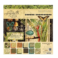 Graphic 45 - Nature Sketchbook Collection - 8x8 Paper Pad