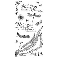 Graphic 45 - Nature Sketchbook Collection - Cling Stamps 2 Life Is The Flower, Love Is The Honey