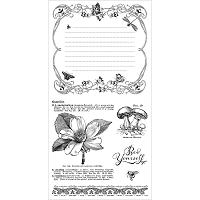 Graphic 45 - Nature Sketchbook Collection - Cling Stamps 3 Bee Yourself