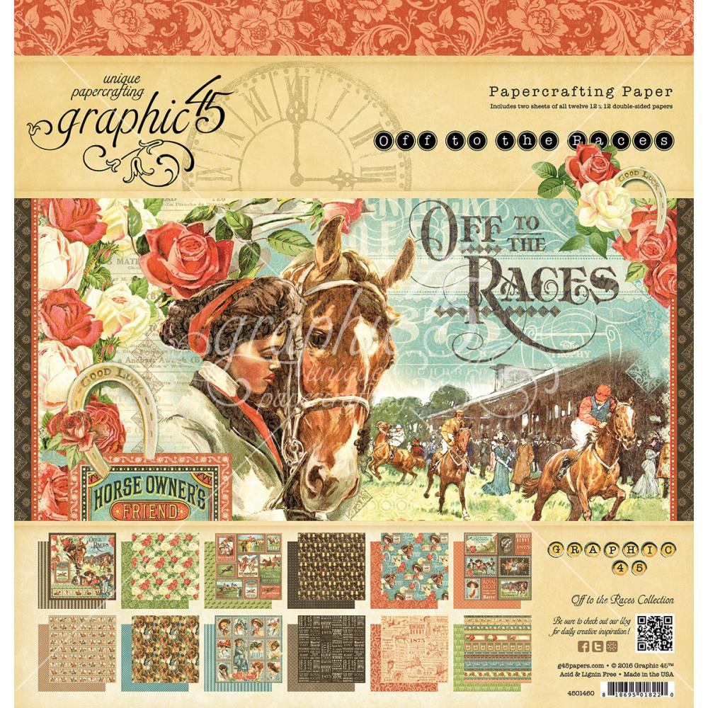 Scrapbook paper dogs - Off To The Races Collection