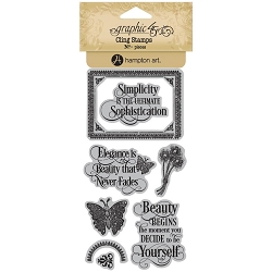 Graphic 45 - Portrait of a Lady Collection - Cling Stamps 1