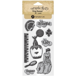Graphic 45 - Portrait of a Lady Collection - Cling Stamps 2