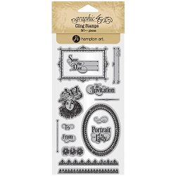 Graphic 45 - Portrait of a Lady Collection - Cling Stamps 3