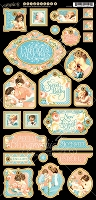 Graphic 45 - Precious Memories Collection - Decorative Chipboad
