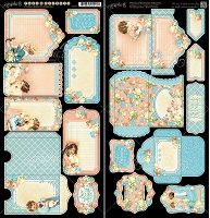 Graphic 45 - Precious Memories Collection - Tags & Pockets