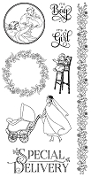 Graphic 45 - Precious Memories Collection - Cling Stamp 3