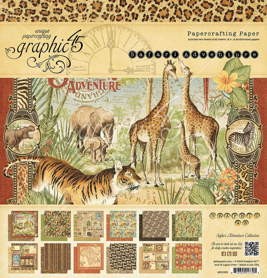 Graphic 45 - Safari Adventure Collection
