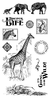 Graphic 45 - Safari Adventure Collection - Cling Stamps 2