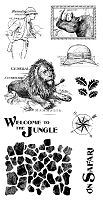Graphic 45 - Safari Adventure Collection - Cling Stamps 3