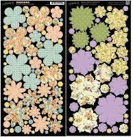 Graphic 45 - Secret Garden Collection - Die Cut Cardstock - Flowers