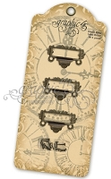 Graphic 45 - Staples - Ornate Metal Label Holder