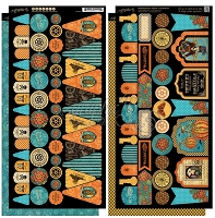 Graphic 45 - Steampunk Spells Collection - Die Cut Cardstock - Banners