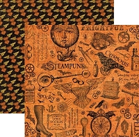 Graphic 45 - Steampunk Spells Collection - 12X12 Double Sided Paper - Mechanical Marvels