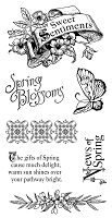 Graphic 45 - Sweet Sentiments Collection - Cling Stamp Sweet Sentiment 1