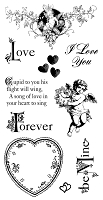 Graphic 45 - Sweet Sentiments Collection - Cling Stamp Sweet Sentiment 2