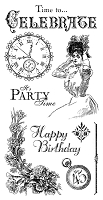 Graphic 45 - Time to Celebrate Collection - Cling Stamp 1