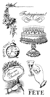 Graphic 45 - Time to Celebrate Collection - Cling Stamp 2