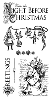 Graphic 45 - 'Twas the Night Before Christmas Collection - Cling Stamp 1