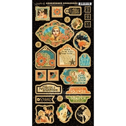 Graphic 45 - Vintage Hollywood Collection - Decorative Chipboard