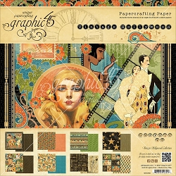 Graphic 45 - Vintage Hollywood Collection - 8x8 Paper Pad