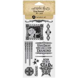 Graphic 45 - Vintage Hollywood Collection - Cling Stamps 2