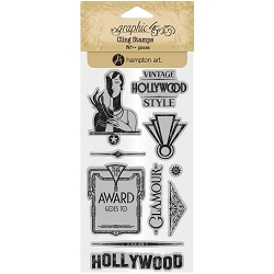 Graphic 45 - Vintage Hollywood Collection - Cling Stamps 3