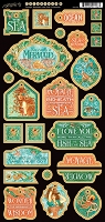 Graphic 45 - Voyage Beneath the Sea Collection - Decorative Chipboard