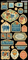 Graphic 45 - World's Fair Collection - Decorative Chipboard