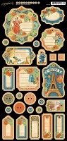 Graphic 45 - World's Fair Collection - Journaling Chipboard