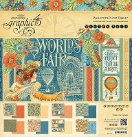Graphic 45 - World's Fair Collection - 12x12 Paper Pad