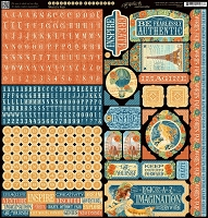 Graphic 45 - World's Fair Collection - 12x12 Sticker sheet