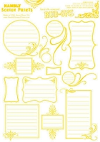 Hambly studios rub ons - Journaling 2 Yellow
