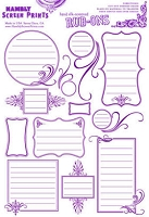 Hambly studios rub ons - Journaling 2 Purple